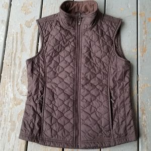 L.L. BEAN Brown THINSULATE QUILTED VEST